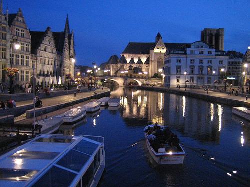 Visita guiada por el canal de Gante