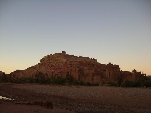 Kasbah de Aït Benhaddou durante la puesta de sol