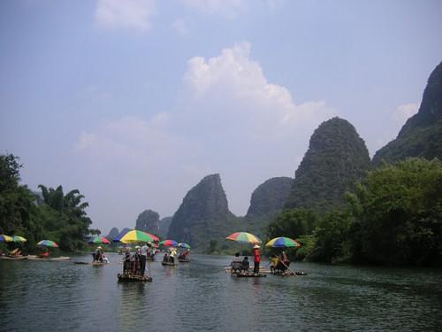 Navengando en Yangshuo