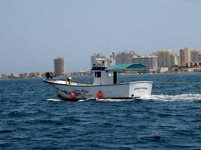 Barco en el Mar Menor