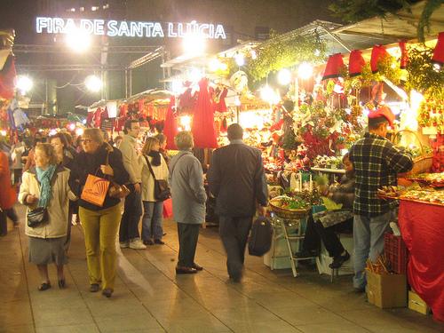 fira de santa ll cia el mercado de navidad de barcelona