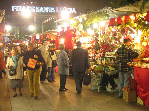 Fira de Santa Llúcia, en Barcelona