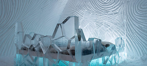 Suite del Ice Hotel de Kiruna