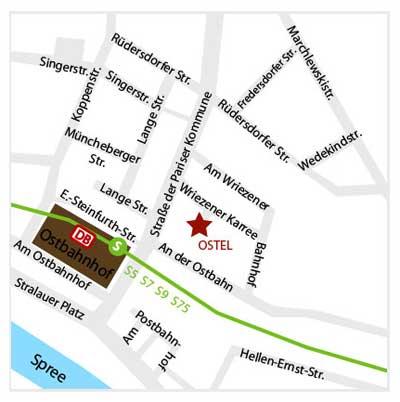 Hotel Ostel Mapa