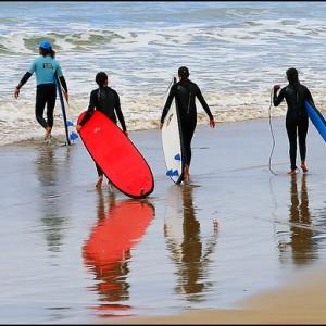 Practica surf en invierno