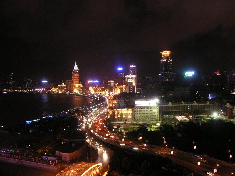 El Bund de Shanghai de noche