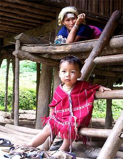 Aldea Karen en Tailandia
