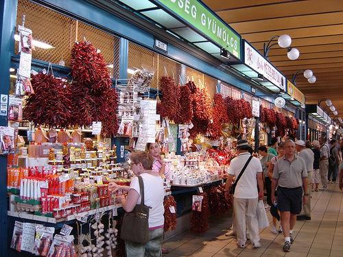 Paradas del Mercado Central de Budapest