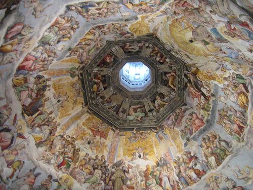 Pintura del Juicio Final, en la catedral de Florencia