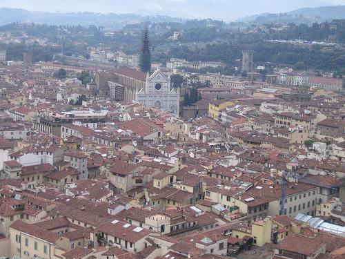 Vistas de Florencia, desde la catedral de Santa Maria del Fiore