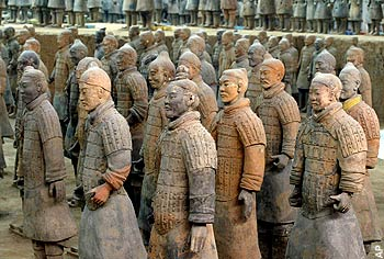 Soldados de Xian, en China