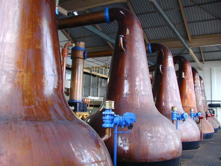 Destilería de Whisky de malta en Escocia