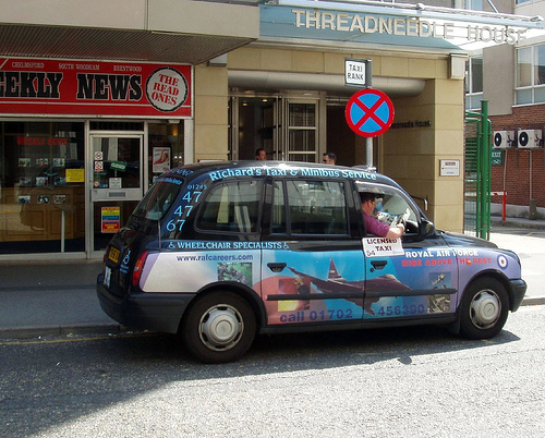 Taxi minicab en Londres