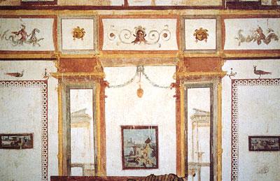 Frescos en la Domus Aurea