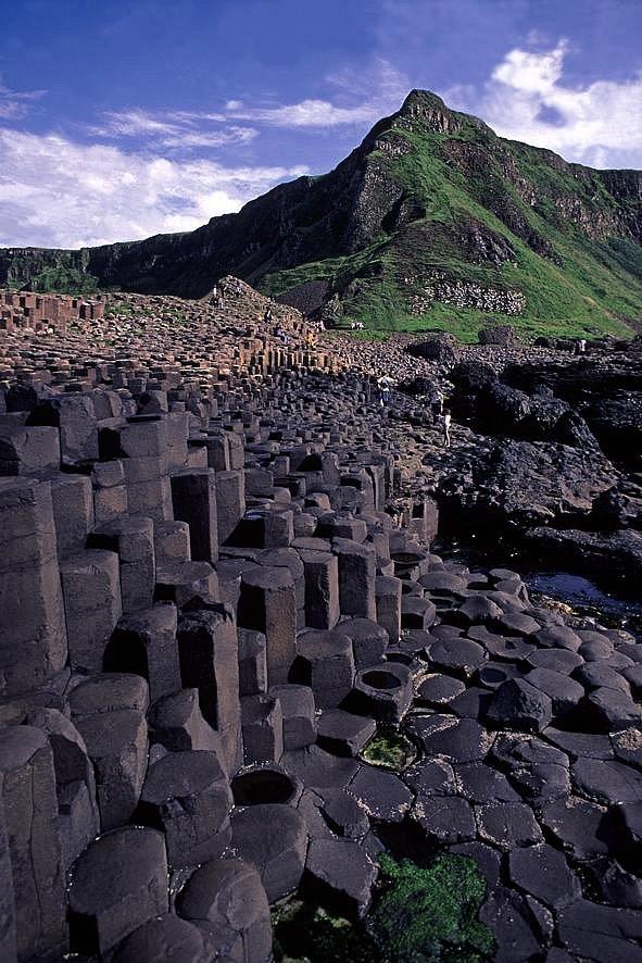La calzada del gigante en Irlanda del Norte