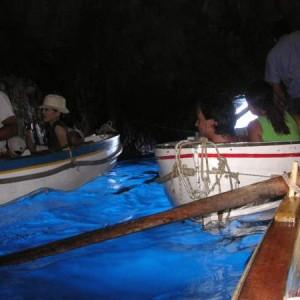 La gruta Azzurra de la isla de Capri