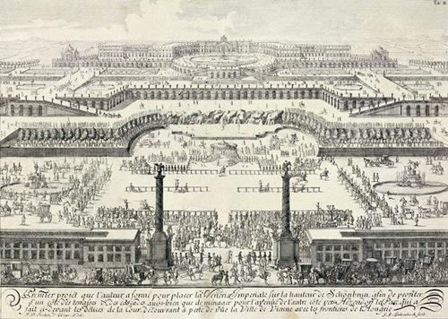 Primer proyecto del Palacio de Schönbrunn, en Viena