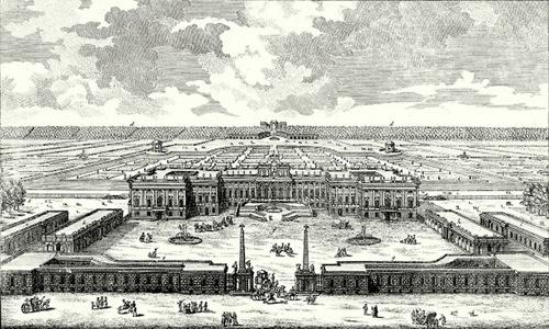 Proyecto final del Palacio de Schönbrunn, en Viena