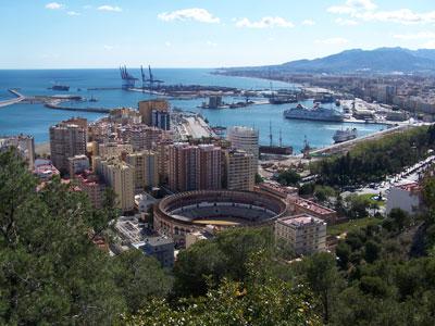 Vista de Málaga desde el mirador