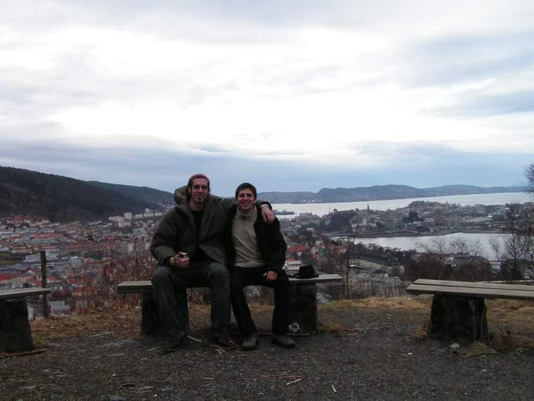Vistas de Bergen con un amigo