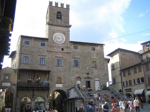 Cortona, en la región de la Toscana, Italia