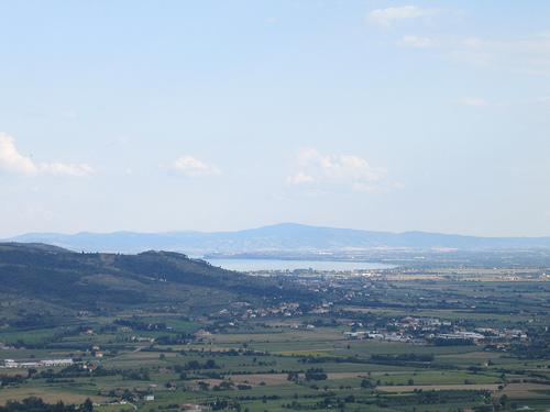 El lago Trasimeno, visto desde Cortona