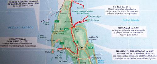Mapa Islas Tailandia