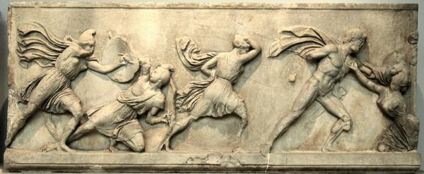 Lucha de griegos y Amazonas
