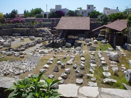 Mausoleo de Halicarnassos en la actualidad