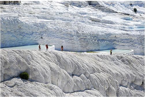 Las piscinas de Pamukkale en Hierápolis