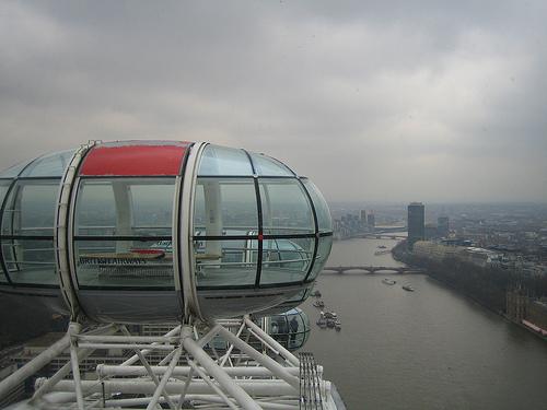 Cápsula del London Eye, en lo más alto del recorrido
