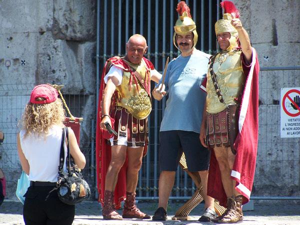 Los gladiadores del coliseo