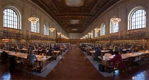 Interior Biblioteca de Nueva York