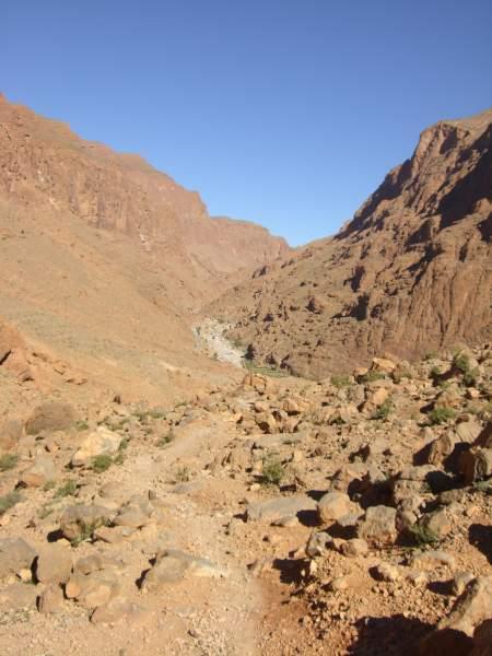 Cima del trecking en Marruecos