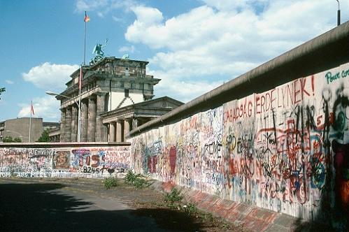 El muro en la puerta de Brandemburgo