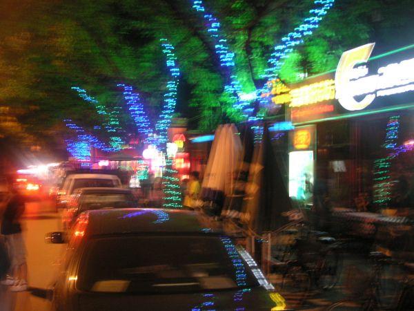Zona de bares de Sanlitun en Beijing