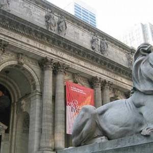 Guardianes en la biblioteca de Nueva York