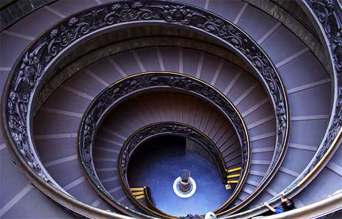 Escalera de Bramante en el Vaticano