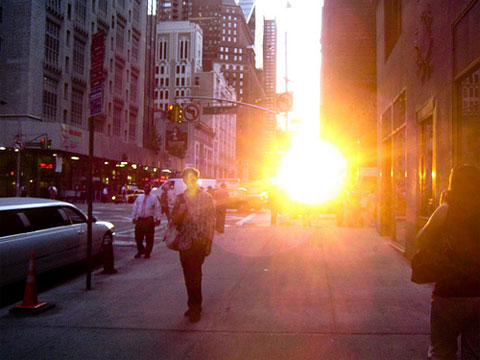 Cuando el sol cae sobre Manhattan