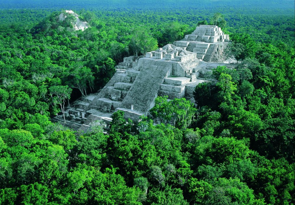 Ruinas mayas de Calakmul en Campeche