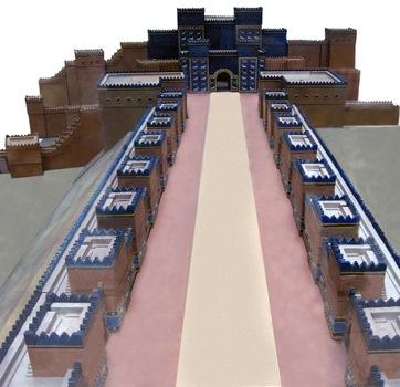 La Vía Procesional y la Puerta de Ishtar al fondo, Babilonia