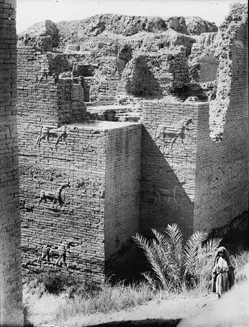 La Puerta de Ishtar, durante las excavaciones
