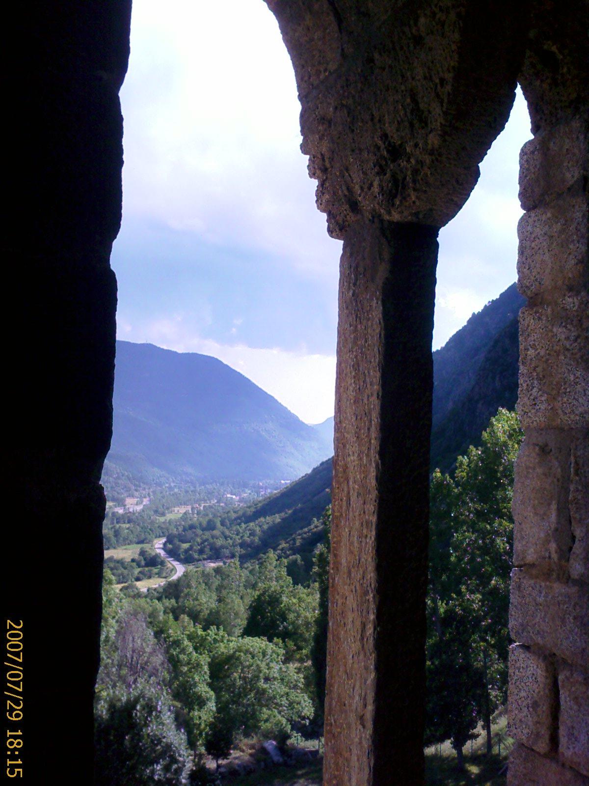 Vistas del campanario de Erill la Vall