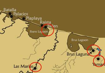 Mapa de La Moskitia