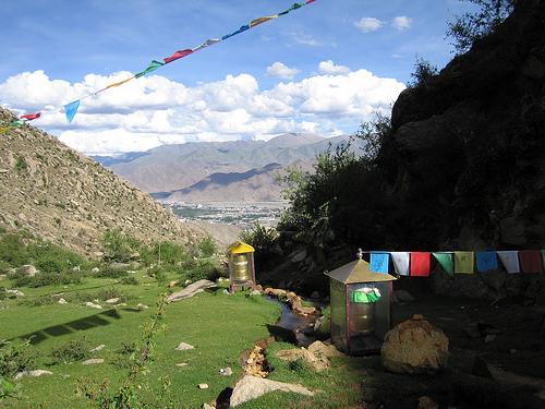 Banderas de los deseos (Tibet)