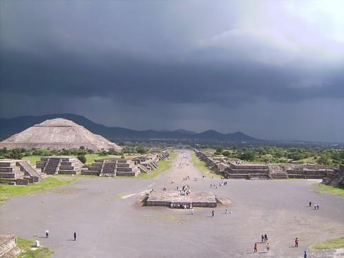 Teotihuacán desde la pirámide de la Luna