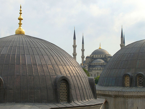 Mezquita azul desde Santa Sofía