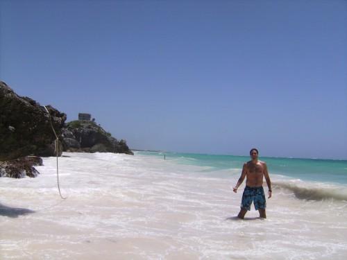 Bañándome en Tulum