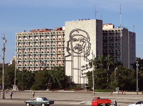 El Che en la plaza de la Revolución de la Havana