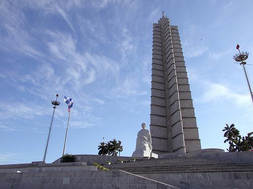 La figura de Jose Martí en la plaza de la Revolución